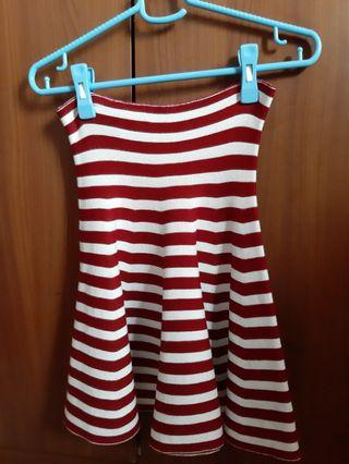Stripes skirt (red)