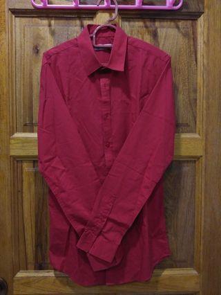 Topman Red Shirt
