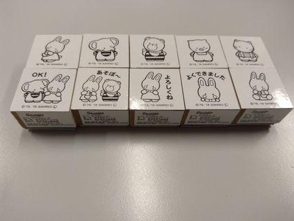 Sanrio cheery chums stamps 兔仔印仔 cherry chums