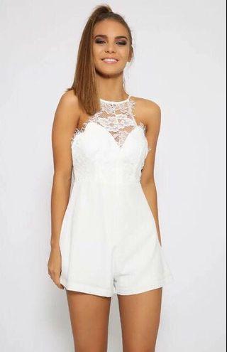 White Lace Romper (last price)