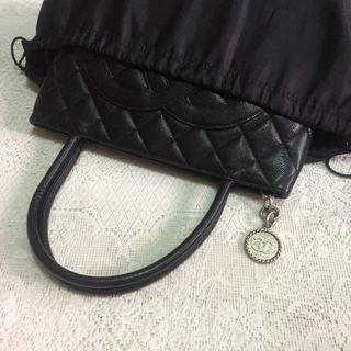 Black Satin Dust Bag for Luxury Bag (Chanel Medallion Tote and below)