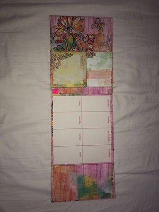 Weekly Agenda/To Do/Sticky Notes (floral design)