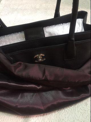 Premium Dark Mahogany Satin Dust Bag for Luxury Bag (Chanel Cerf Tote and below)