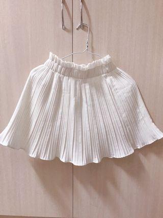 🚚 花苞邊A字顯瘦百褶短裙