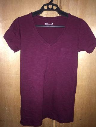 Bench plain V-neck shirts