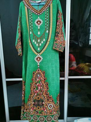 🚚 Long Dress (Green)