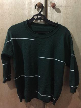 Green semi long sleeves