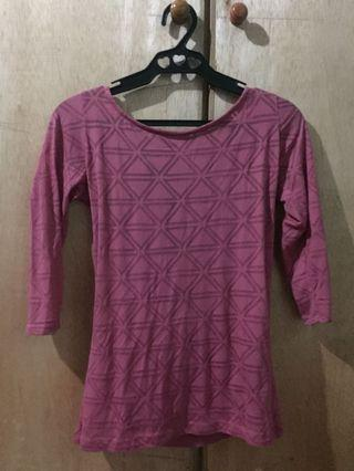 Penshoppe pink backless blouse