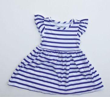 Old Navy Blue Stripes Dress (12-18months)