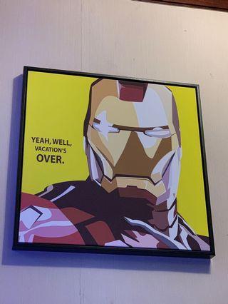 Ironman 掛畫 52.5 x52.5 cm iron man