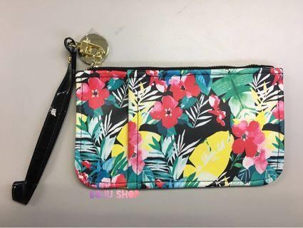 🚚 [全新現貨]-Posh Bag -熱帶植物風小型手拿包-平價華麗貴泰泰風 泰百搭文創品牌