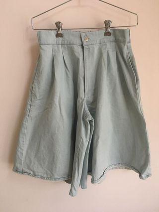 韓國女裝淺藍色 牛仔短裙褲(原價$249 橡筋腰)