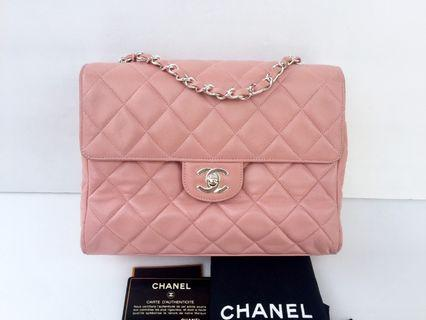 Rare authentic chanel classic pink bag