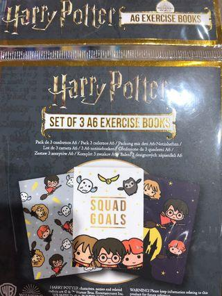 Harry Potter note book set of 3