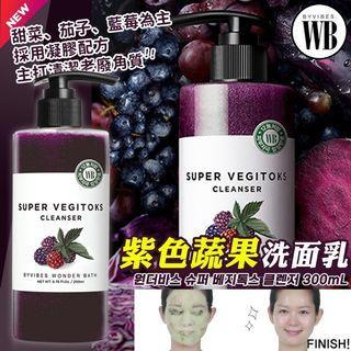 🚚 韓國Wonder bath 紫色蔬果/紅色蔬果/蔬果綠茶 洗面乳300ml