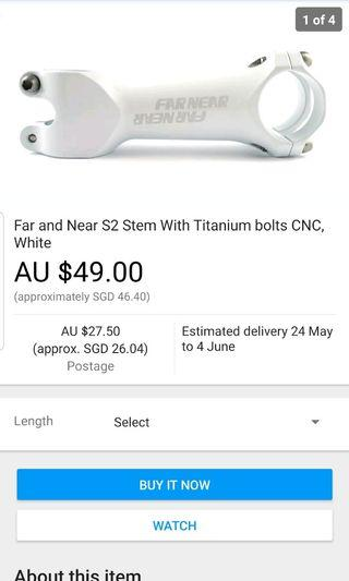 FarNear handle bar stem
