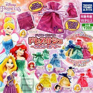 迪士尼公主扭蛋 索袋 長髮公主 白雪公主 貝兒