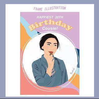 Birthday Frame Illustration