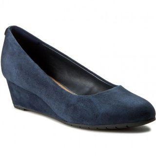 Kiyo Suede Wedge - Blue