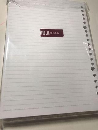 muji活頁紙350張