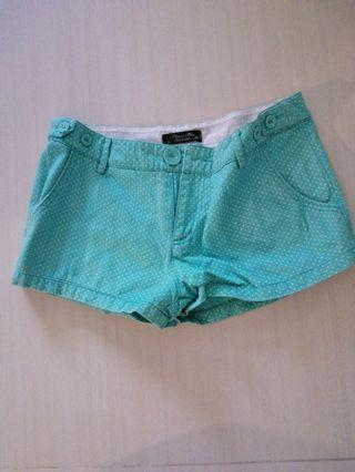 Pepper Plus Mint Green Polka Dots Shorts