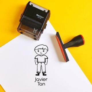 kids rubber stamp