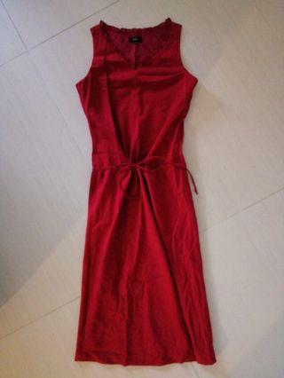MNA Red Sleeveless Dress