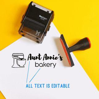 baked goods business stamp (with logo design)