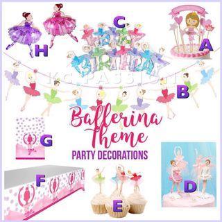 🎊 BALLERINA • BALLET THEME PARTY DECORATIONS