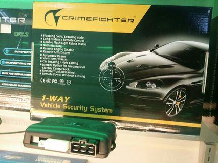 Crimefighter 1 way vehicle security system