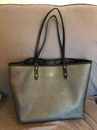 Coach reversible double side tote bag