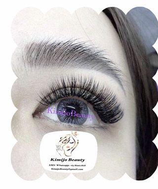 Eyelashes extensions handmade lashes volume