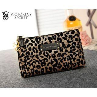 AUTHENTIC VICTORIA SECRET LEOPARD  MAKEUP POUCH