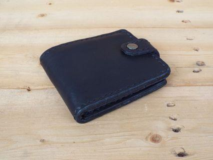 Men's Bifold Button Leather Wallet