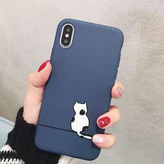 日本簡約風小貓全包磨砂軟殼手機殼 Apple iPhone case