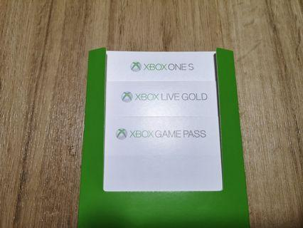 🚚 Code for Xbox Live Gold and Game Pass