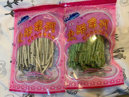 🚚 東港寶源鱈魚香絲 芝麻/芥末 各一包