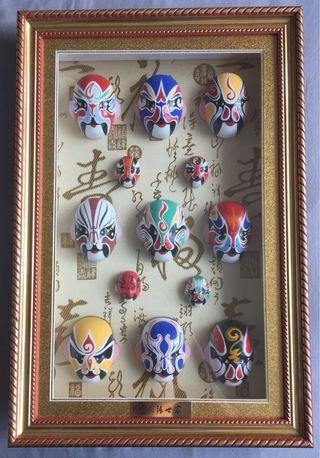 Chinese Opera Faces Display