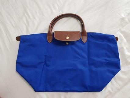 BN Longchamp Pilage in Cobalt Blue