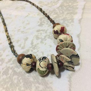 #BAPAU kalung etnik motif batik