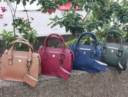 Authentic Taiwan S'aime Leather Satchel Bag