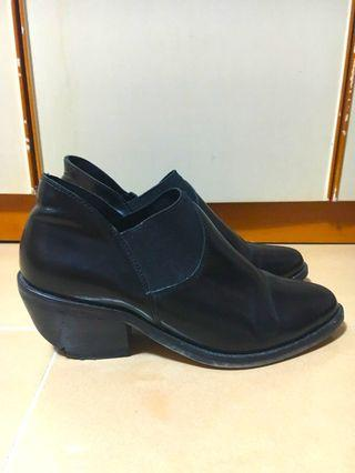 ASOS black Chelsea boots with heels