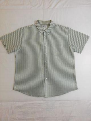 🚚 Ngu古著 直條紋純棉襯衫