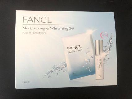 Brand new Fancl moisturizing & whitening set 水嫩淨白旅行套裝