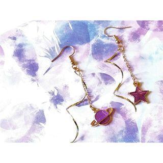 《星空紫系列》耳環