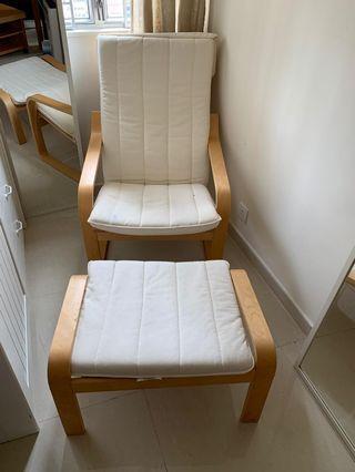 3 Mths Old: IKEA Armchair & Foot Stool
