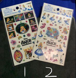 Disney alice貼紙
