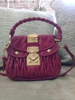 Miu miu coffer mini bag with long strap
