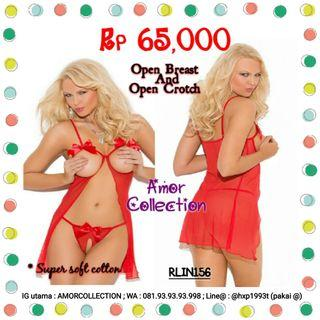 Lingerie seksi premium dress open breast and open crotch -RLIN156- By AMORCOLLECTION