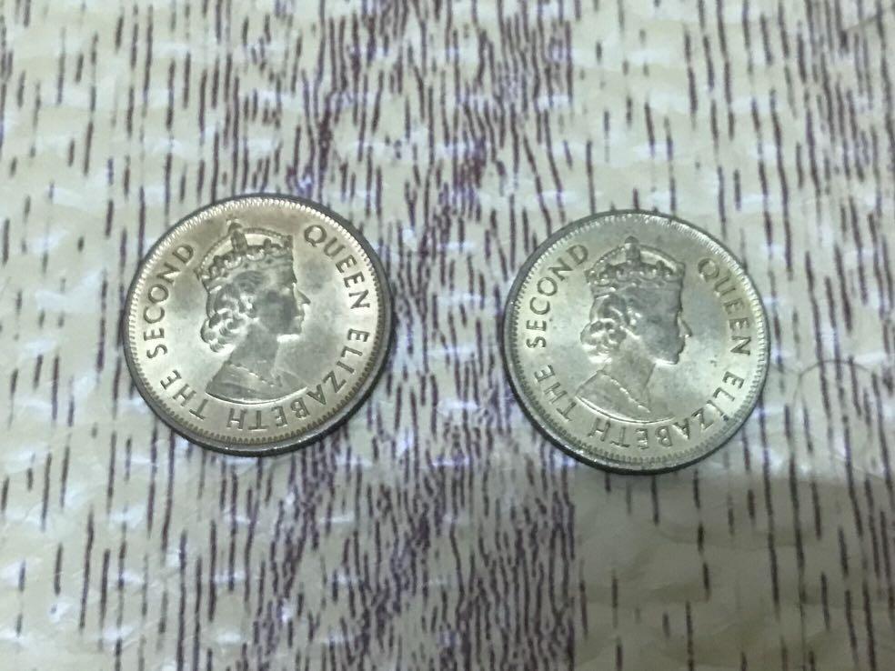 1955-1979女王頭港幣一毫子